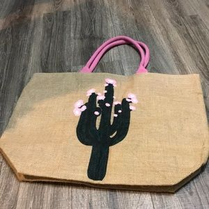Huge Cactus beach tote NEW